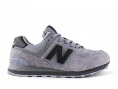 New Balance 574 Solid Grey Suede/Black
