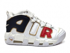 Nike Air More Uptempo White/Navy/Red/Gold