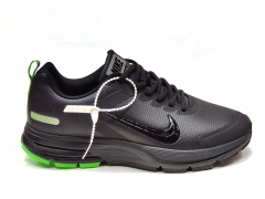 Nike Zoom Structure 17 Shield Black/Green Leather