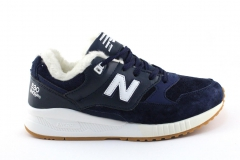 New Balance 530 Navy/White (с мехом)