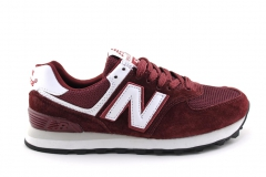 New Balance 574 Burgundy/White