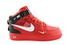 Nike Air Force 1 Mid '07 LV8 Utility Red (натур. мех)