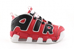 Nike Air More Uptempo Red/Black Leather