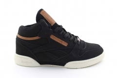 Reebok Classic Exertion Mid Matte Black/Brown (с мехом)