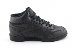 Reebok Classic Exertion Mid Black Leather (с мехом)