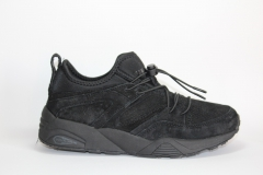 Puma Trinomic Blaze Of Glory Soft All Black Suede