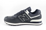 New Balance 574 Navy/White Leather