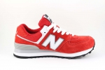 New Balance 574 Red/White Suede