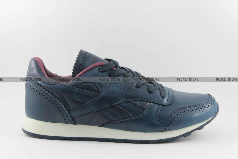 d8268b09 Кроссовки Reebok Classic Leather Lux Brogue Navy/Purple купить в ...