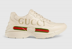 Gucci Rhyton Sneaker Logo Ivory Leather