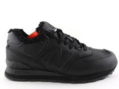 New Balance 574 Low All Black (с мехом)
