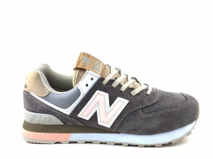 New Balance 574 Suede Grey/Pink NB19