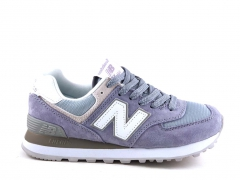 New Balance 574 Purple/White