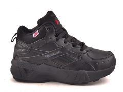 Reebok Classic Mid Leather All Black (с мехом)