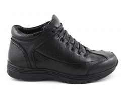 Ecco Black Leather E19 (натур. мех)