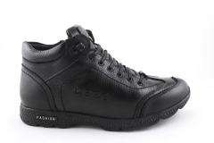Ecco Black Leather (с мехом)