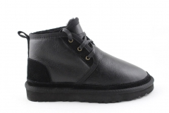 Ботинки UGG Neumel Black Leather (с мехом)