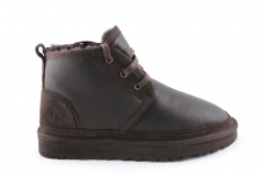 Ботинки UGG Neumel Brown Leather (с мехом)