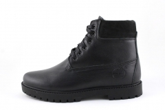 Timberland 6-inch Black Leather (с мехом)