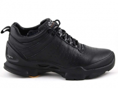 Ecco Biom C Leather Black (натур. мех)