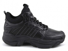 Adidas Naked Leather All Black (с мехом)