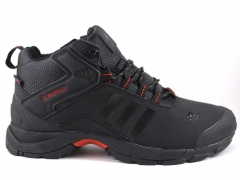 Adidas Climaproof Mid Black/Red (натур. мех)