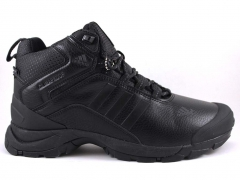 Adidas Climaproof Mid Leather All Black (натур. мех)