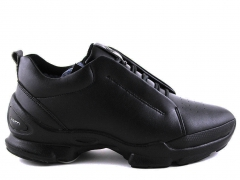 Ecco Biom С Black Leather E19 (натур.мех)