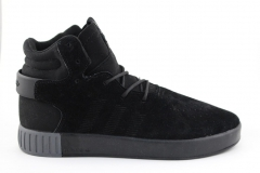Adidas Tubular Invader Black (с мехом)