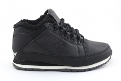 New Balance 754 Black Leather (с мехом)