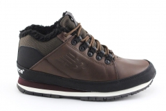 New Balance 754 Brown Leather (с мехом)