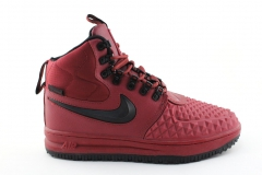 Nike Lunar Force 1 Duckboot '17 Red/Black (с мехом)