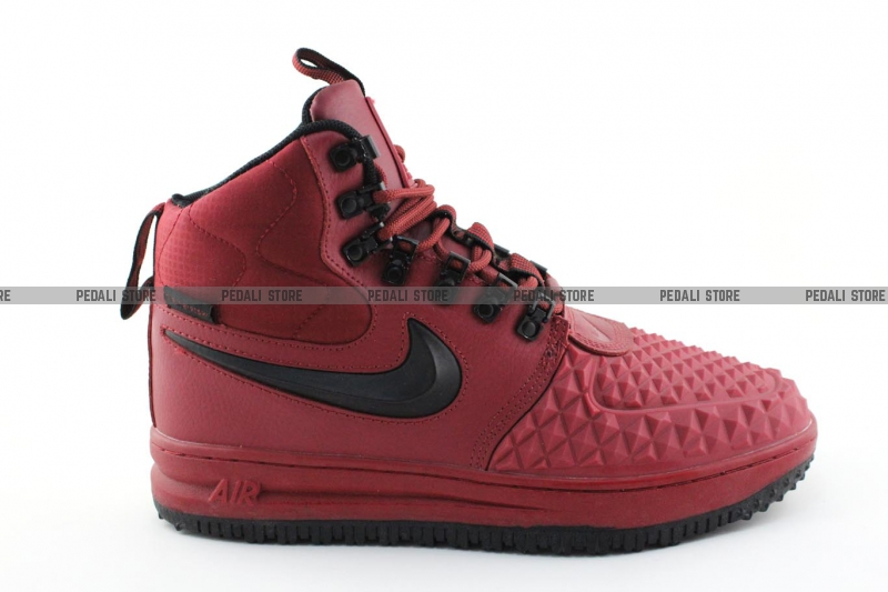 43669450 Зимние кроссовки Nike Lunar Force 1 Duckboot '17 Red/Black (с мехом ...