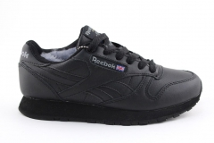 Reebok Classic Leather Black (с мехом)