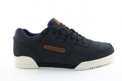Reebok Classic Workout Plus Navy/White (с мехом)