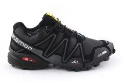 Salomon Speedcross 3 Black/Grey (с мехом)