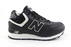 New Balance 574 Mid Black/White (с мехом)