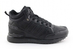 Adidas ZX 750 Mid Black Leather (с мехом)