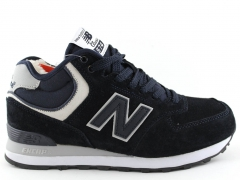 New Balance 574 Mid Navy (с мехом)