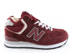 New Balance 574 Mid Burgundy N19 (с мехом)
