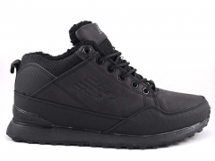 New Balance 754 All Black Nubuck (c мехом)