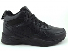 Nike Zoom Mid Leather Black (с мехом)