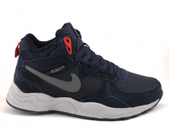 Nike Zoom Mid Navy/White (с мехом)