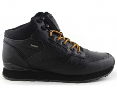 Reebok Classic Mid Keepwarm Black/Yellow Leather (натур. мех)