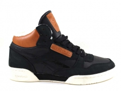 Reebok Classic Exertion Mid Black/White (с мехом)