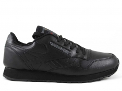 Reebok Classic Leather All Black (c мехом)