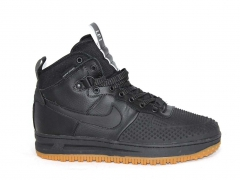 Nike Lunar Force 1 Duckboot Black (с мехом)