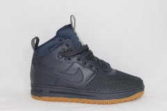 Nike Lunar Force 1 Duckboot Navy (с мехом)