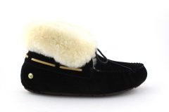 UGG Alena Slipper Black (с мехом)