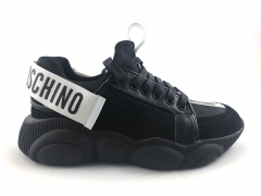 Moschino Teddy Shoes Black/White